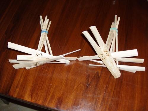 Elicopterele pirogravate cu sensul de rotație