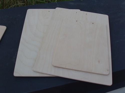 Clipboard mesteacăn A4 și A5 (înainte de finisare)