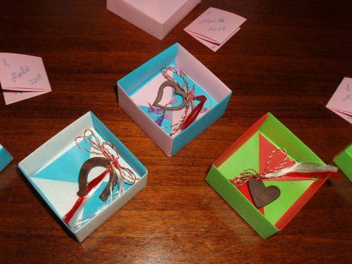 Mărțișoare în cutie