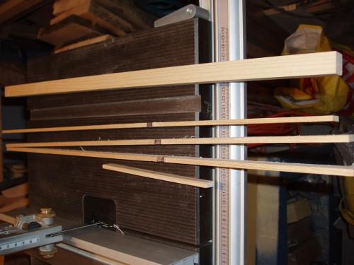 Lați de 6mm grosime ce vor fi tăiați pentru alice și ax
